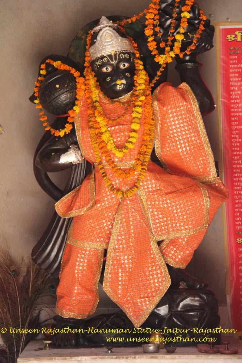 unseen rajasthan india kale hanuman ji statue jaipur rajasthan