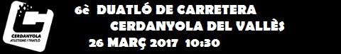Duatló de Cerdanyola 26 Març 2017 - Lliga de clubs