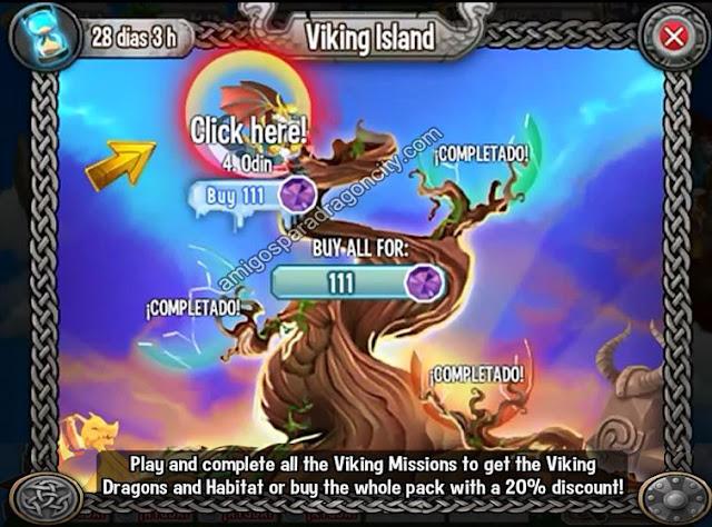 imagen de la cuarta parte de la isla vikingo de dragon city
