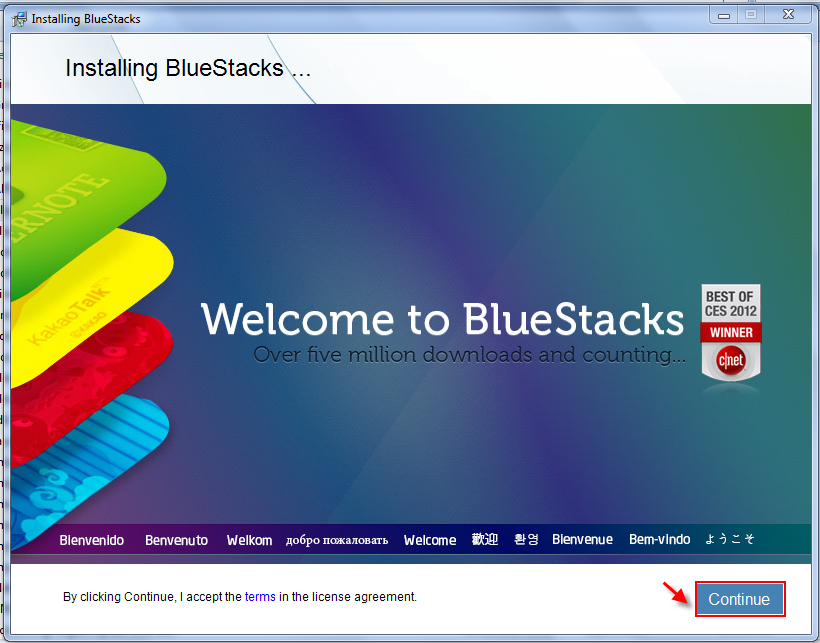 Instal bluestack android for PC