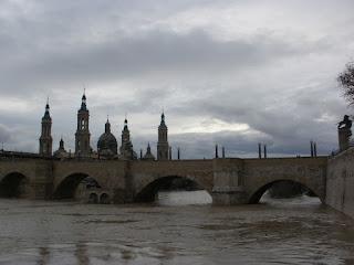 Puente de Piedra Crecida del río Ebro 22/01/2013 Zaragoza