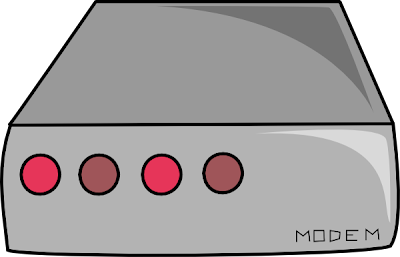 classic dialup modem clipart