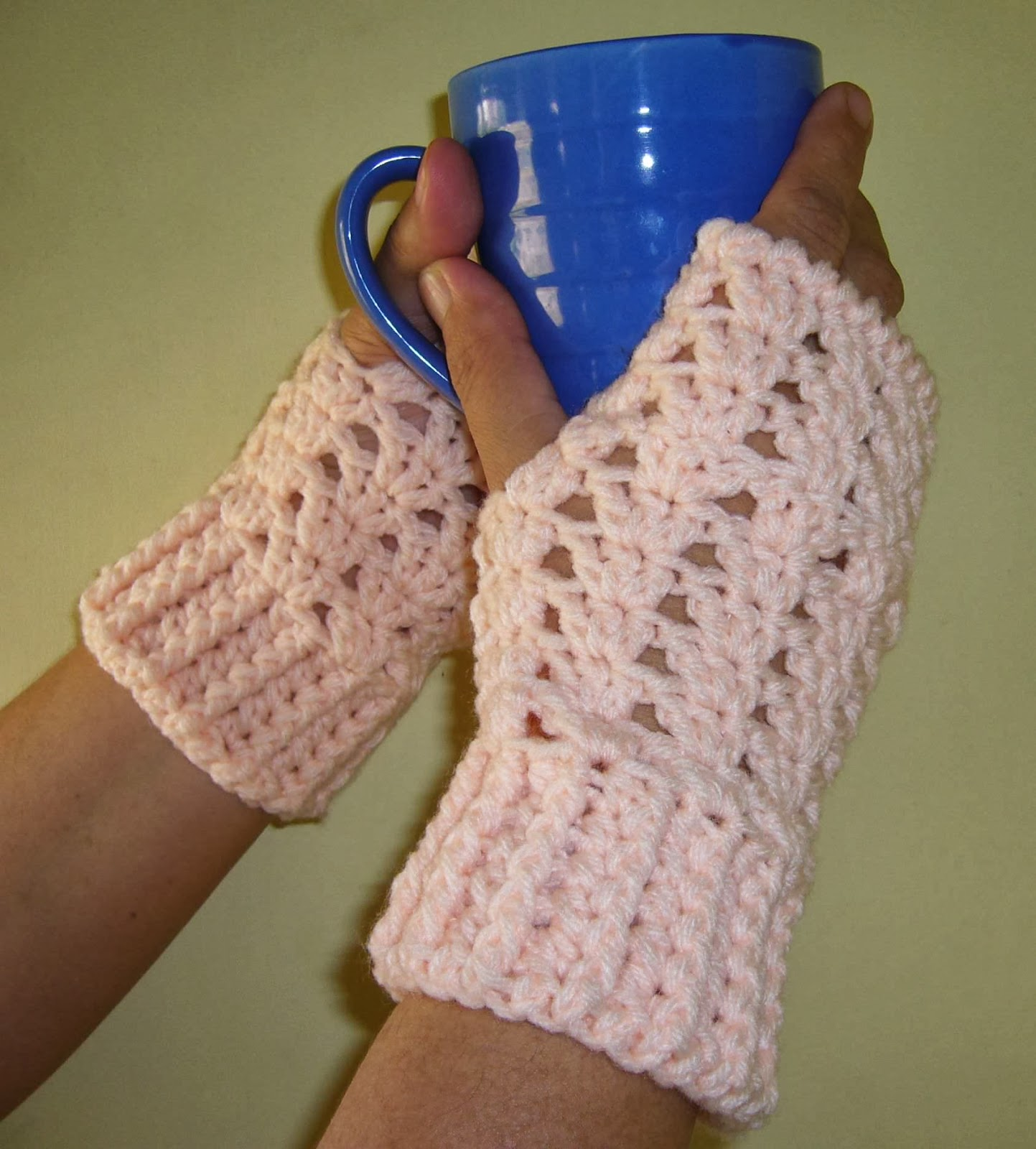 crochet shells gloves crochetkari