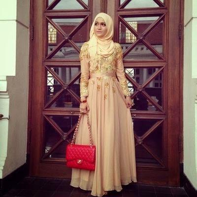 Porter le hijab avec style soirée