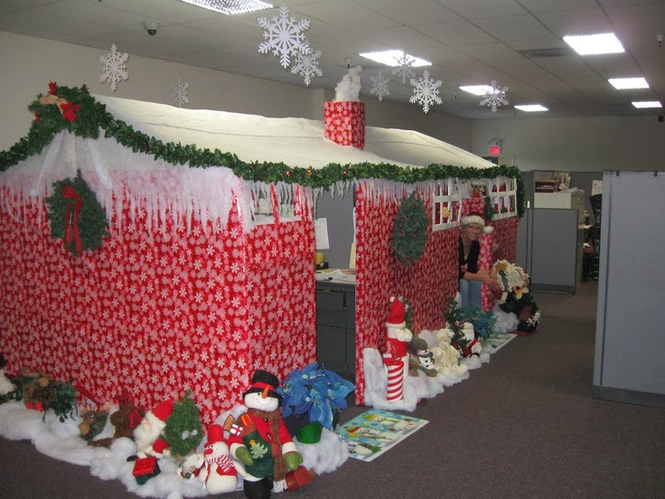 Marvelous Christmas Decoration Office Ideas. Cubicledecor5 Christmas Decoration  Office Ideas