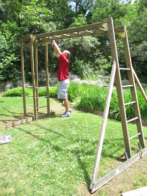 swing set quilt ladder