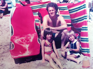 Me, my Sister and my Dad on the beach