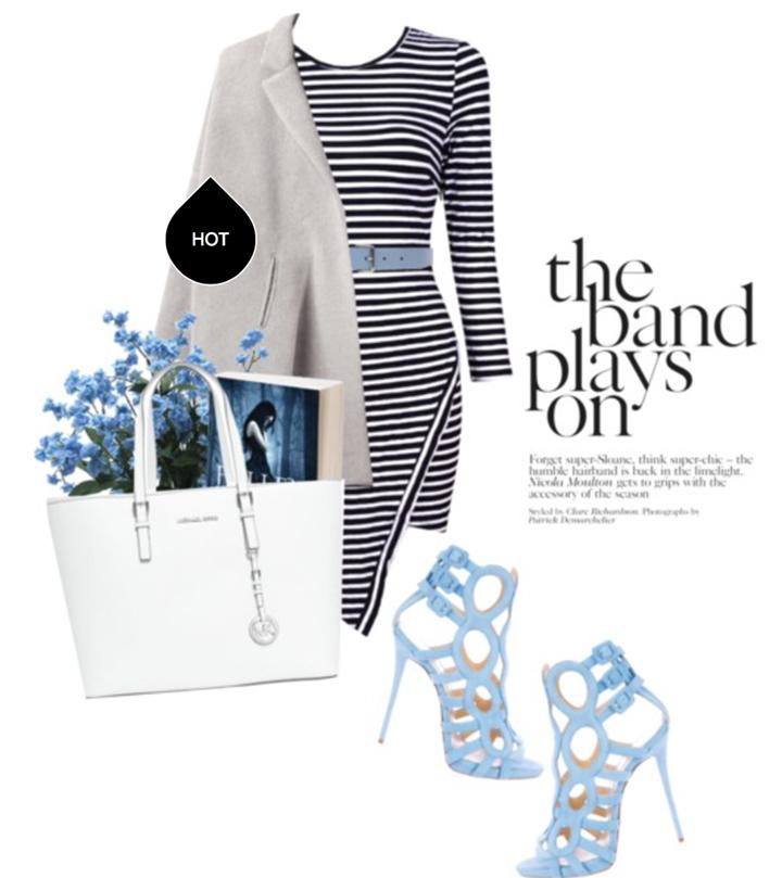 vestido a rayas elegante