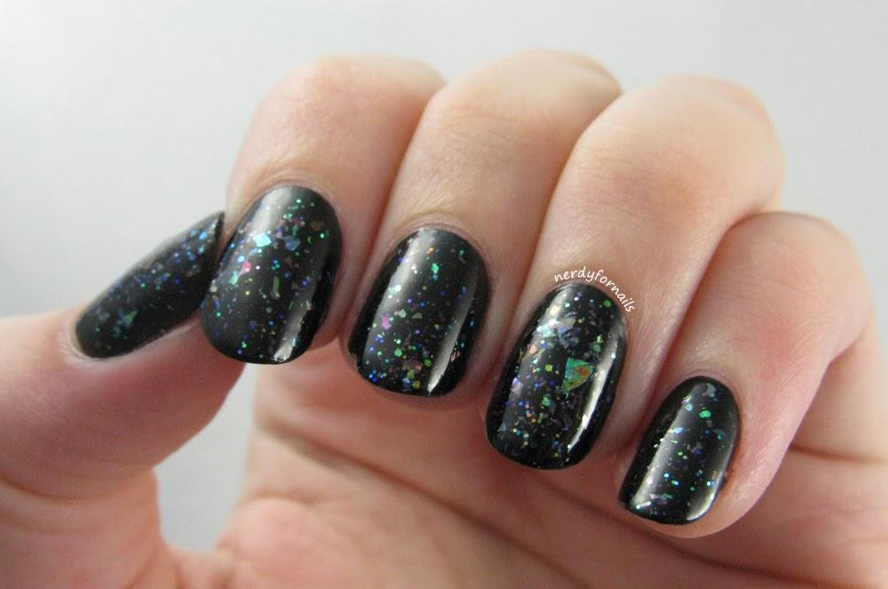 Nubbins- Finger Paint Flakies, LA Colors Broken Hearted