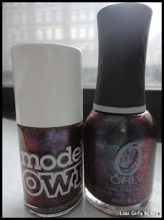 models own beetlejuice purple blue dupe orly galaxy girl