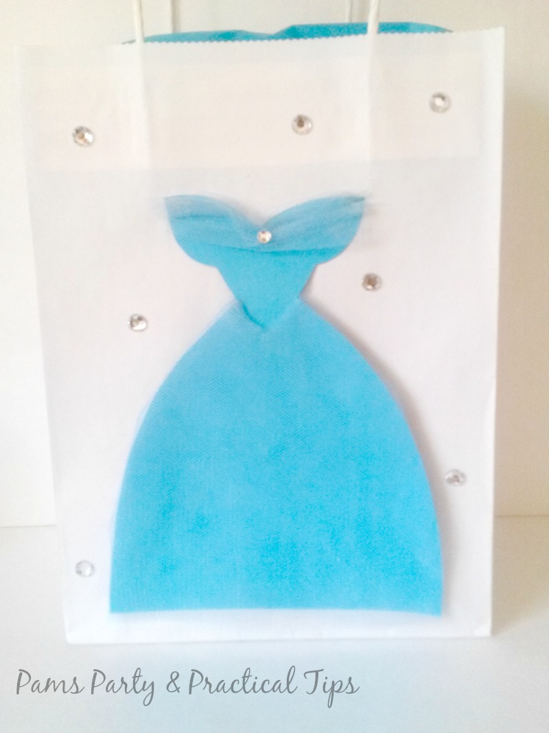 Party bag with Cinderella Gown