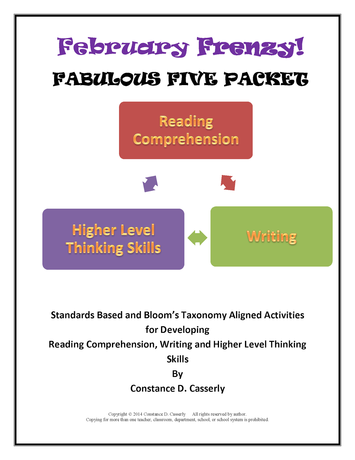 February Frenzy: Fabulous Five Packet cover