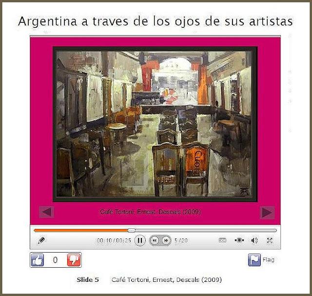 ARGENTINA-PINTORES-ARTISTAS-CAFE TORTONI-PINTOR-ERNEST DESCALS