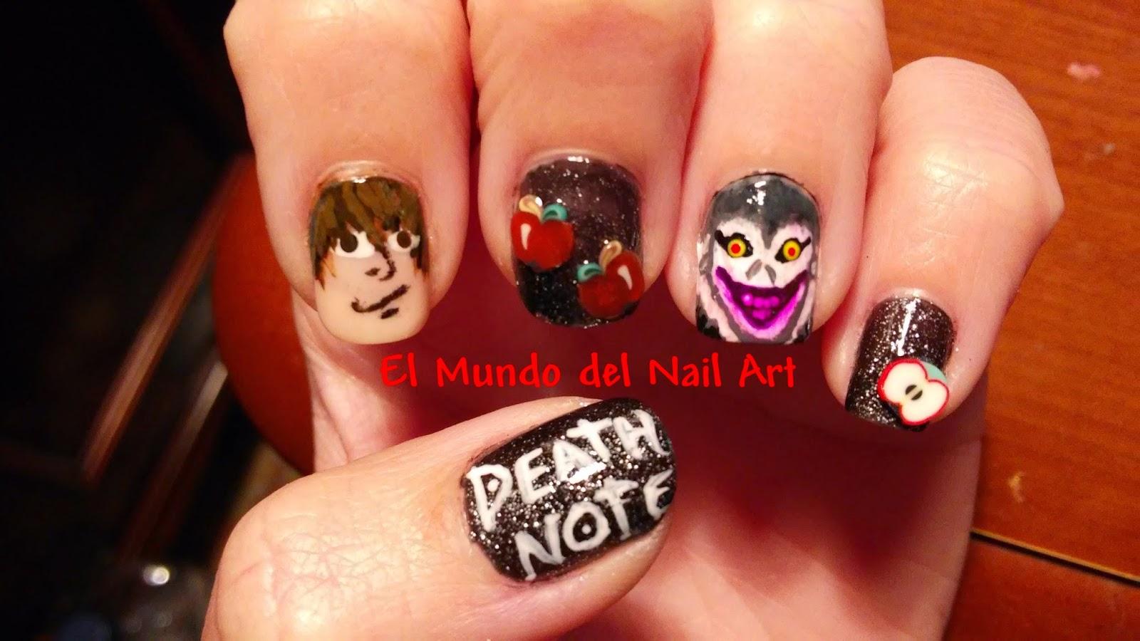El Mundo del Nail Art: Manicura: Death Note #RetoFRIKI2015
