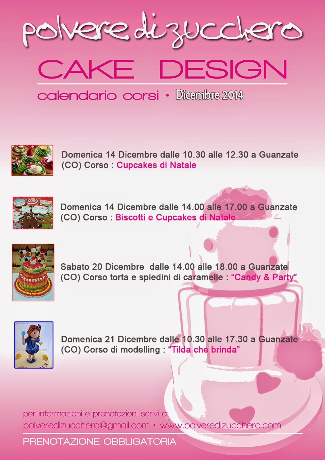 corsi di cake design: dicembre e nuovi corsi per torte di caramelle