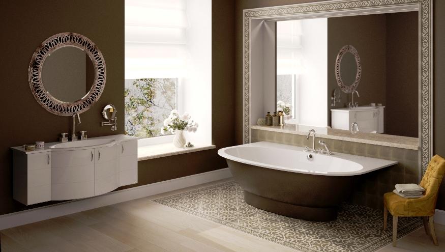 Baño De Chocolate Blanco Utilisima:Baños color marrón – Colores en Casa