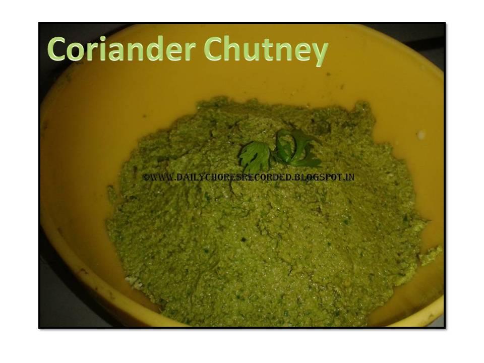 Coriander Chutney/Thuvayal