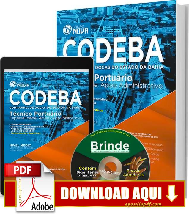 Apostila CODEBA 2015 Técnico Portuário Impressa PDF Download Grátis