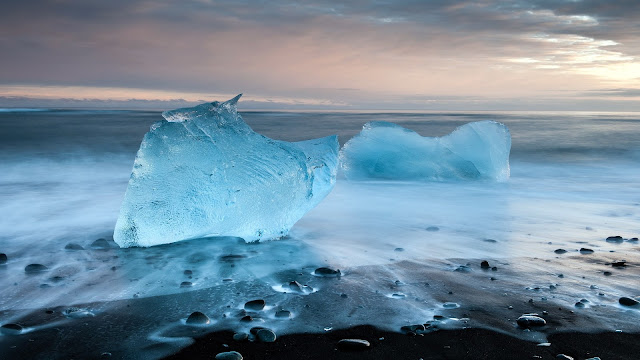 Icy Blue Sea