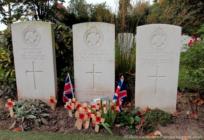 burial site of Valentine Strudwick - one of the youngest soldiers to die in the Great War