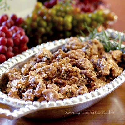 Savoring Time in the Kitchen: Brown Sugar, Fig and Rosemary Walnuts