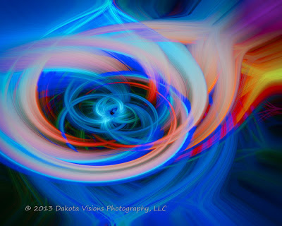 abstract art, photoshop manipulation, radial blur, distort filter, Sunset on Needles Highway