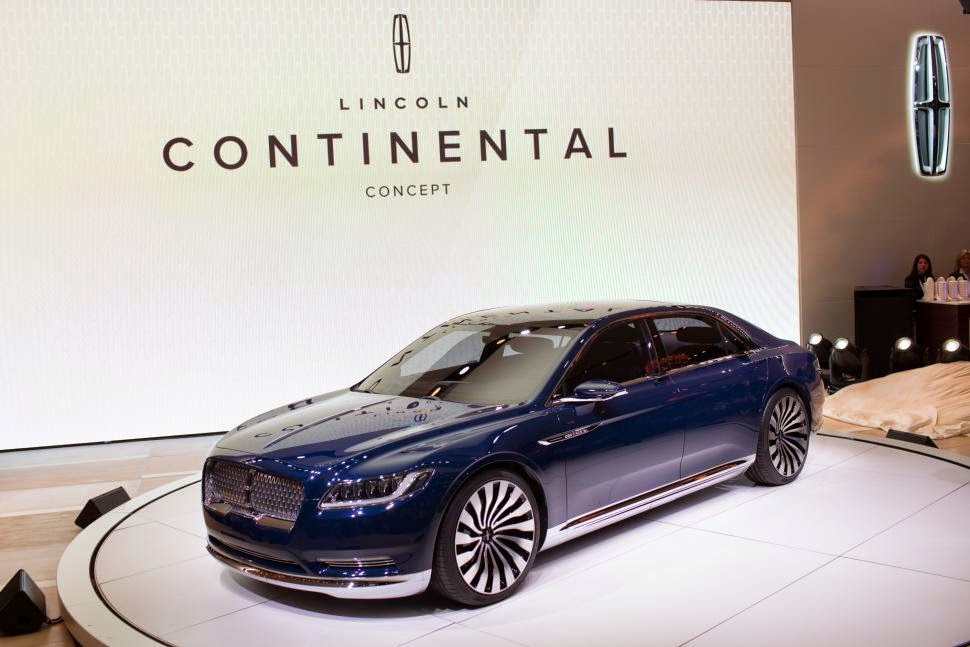 Lincoln Continental Production to Begin in 2016