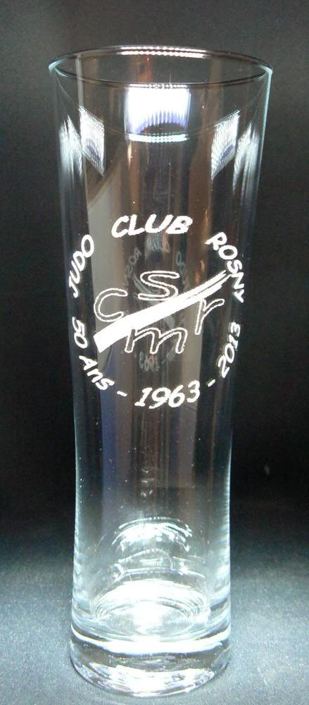 cadeau club sportif judo hand centre questre gravure de votre logo sur verre cadeaux associations - Gravure Sur Verre Mariage Bapteme