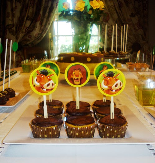 Cupcakes Rey Leon, parte 2