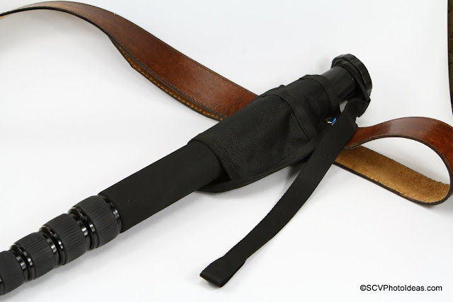 Triopo GL-70 Monopod in Holster attached on belt
