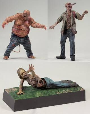 The Walking Dead Television Series 2 by McFarlane Toys - Well Zombie, RV Zombie & Bicycle Girl Zombie Action Figures