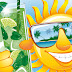 Cartoon funny summer sun 4