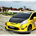 Modifikasi Toyota Yaris Keren Ceper Kuning