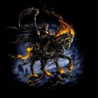 Death / Grim Reaper riding his black horse
