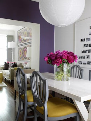 Decoración de Interiores con color Púrpura Morado