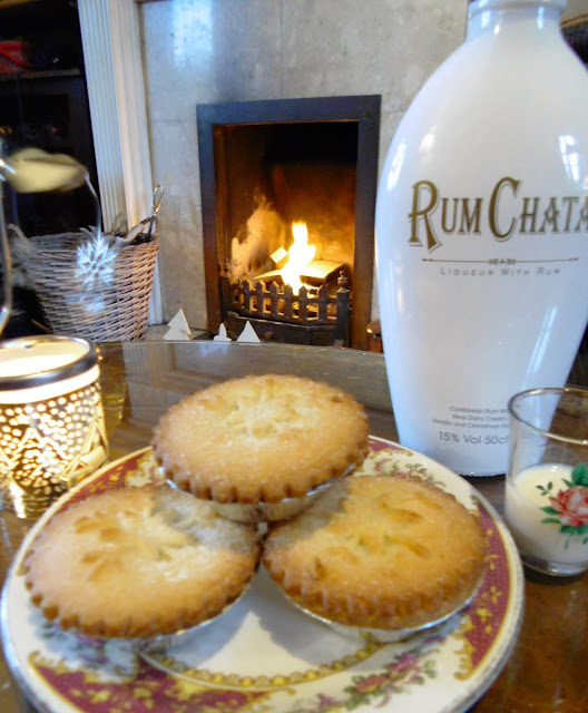 Rum Chata and Mince Pies from Asda