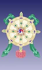 Roda do dharma - gira e expande os ensinamentos budista