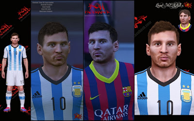 PES 2014 Lionel Messi Face by KOH