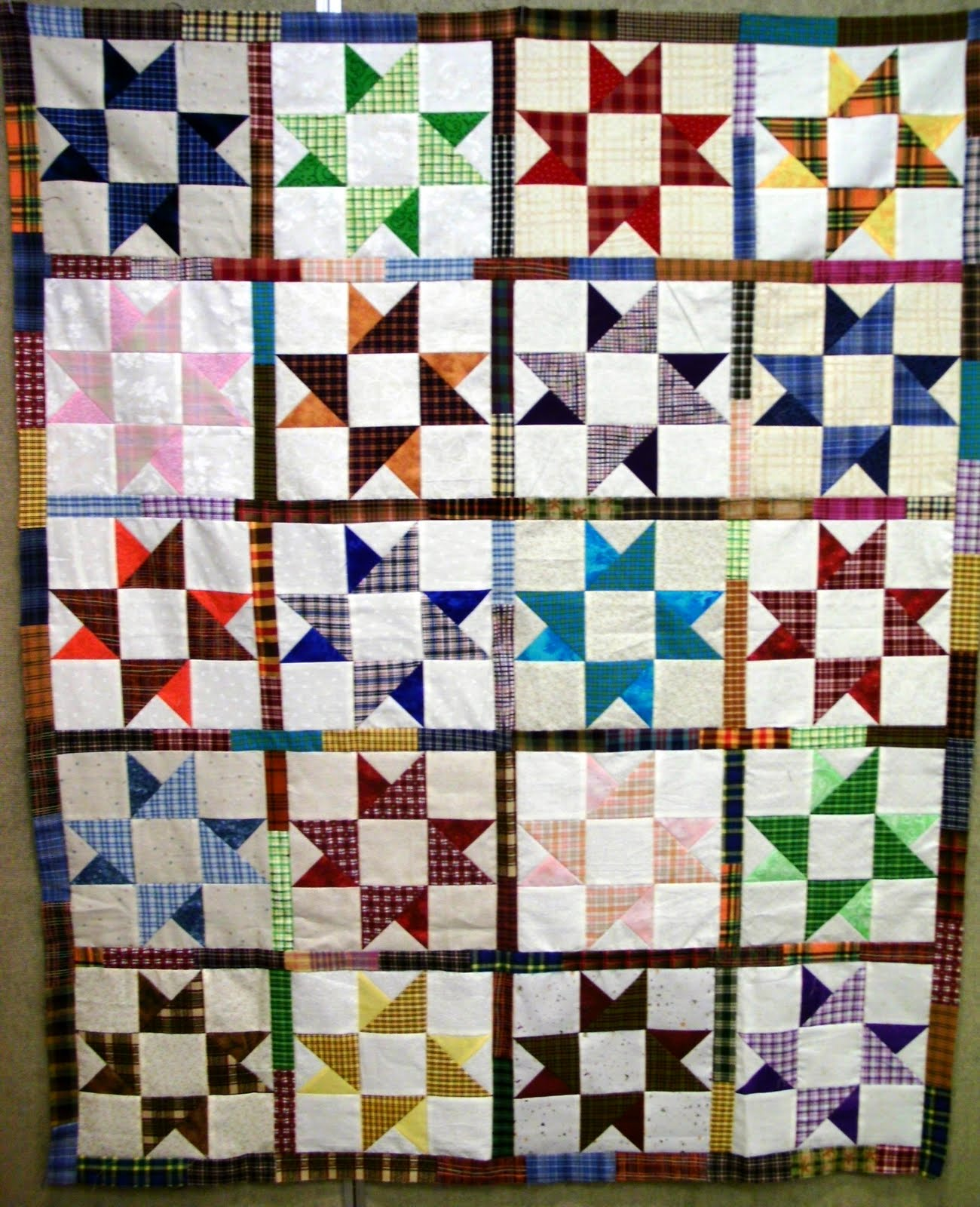 Confessions of a Serial Quilter: Home from Retreat : double friendship star quilt pattern - Adamdwight.com