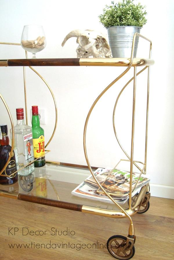Kp tienda vintage online carrito de bebidas vintage dorado ref a19 - Carrito bebidas ...