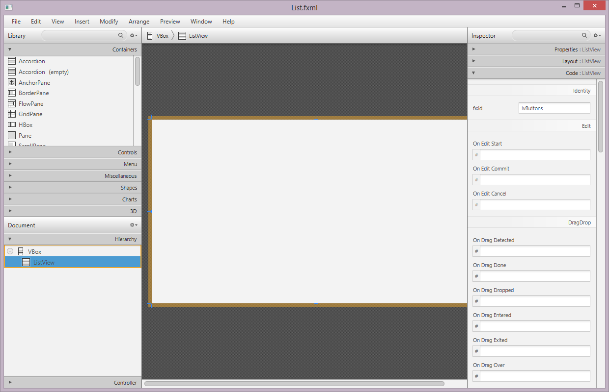 Bekwam blog a master detail pattern with javafx node properties user data app contains a listview baditri Images