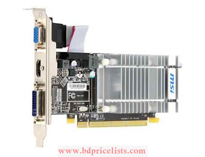 MSI R5450-MD1GH DDR5 Gaming Graphics card Specifications and Price In Bangladesh