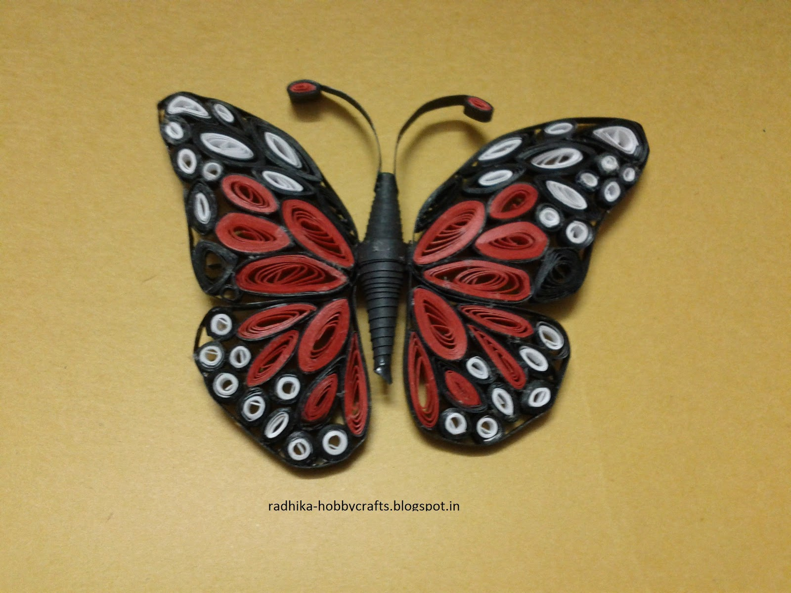 Hobby Crafts :): Quilled monarch butterfly for Quilling Butterfly Tutorial  110ylc