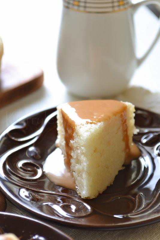 Eggless Vanilla Cake Recipe With Images : EGGLESS VANILLA CAKE kurryleaves