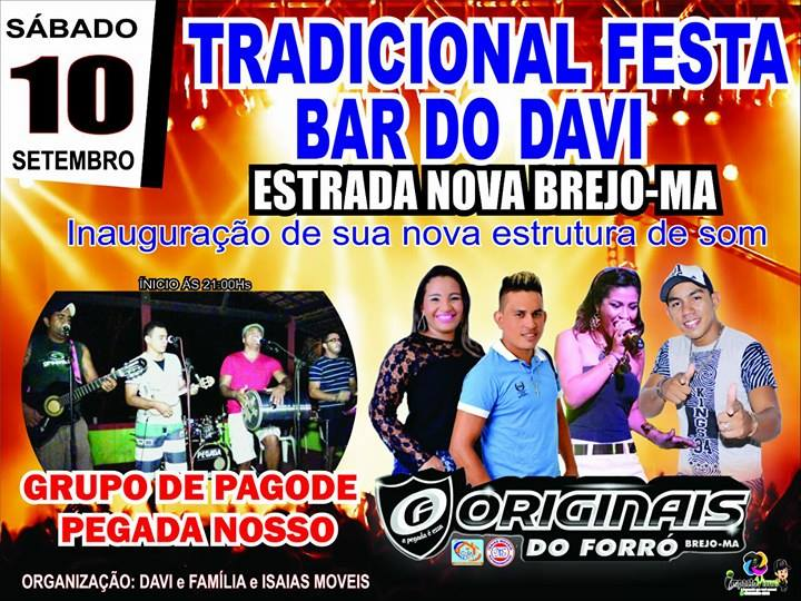 Tradicional Festa Bar do Davi- Brejo