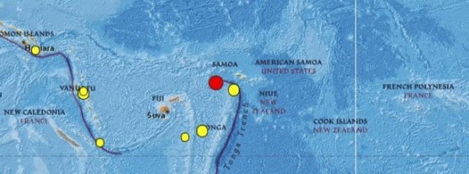 Terremoto islas Samoa el 29 de junio de 2014