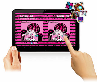 Modelo diferente tablet infantil monster high