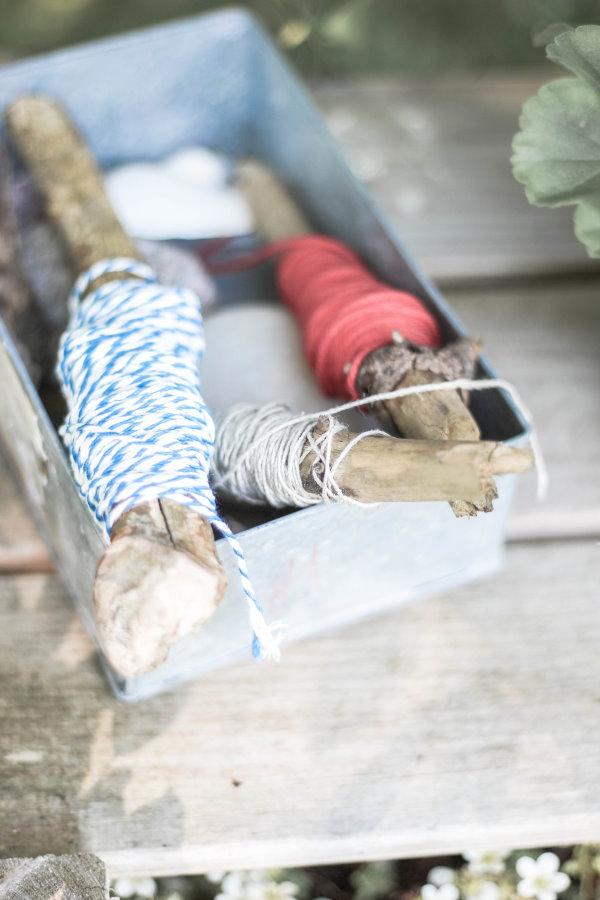Garnrollen DIY aus alten Stöckchen | Ucycling