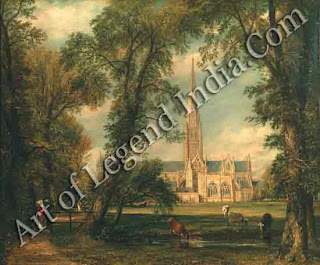"""Salisbury Cathedral"" 1823 341/2 x 44"" Victoria and Albert Museum"