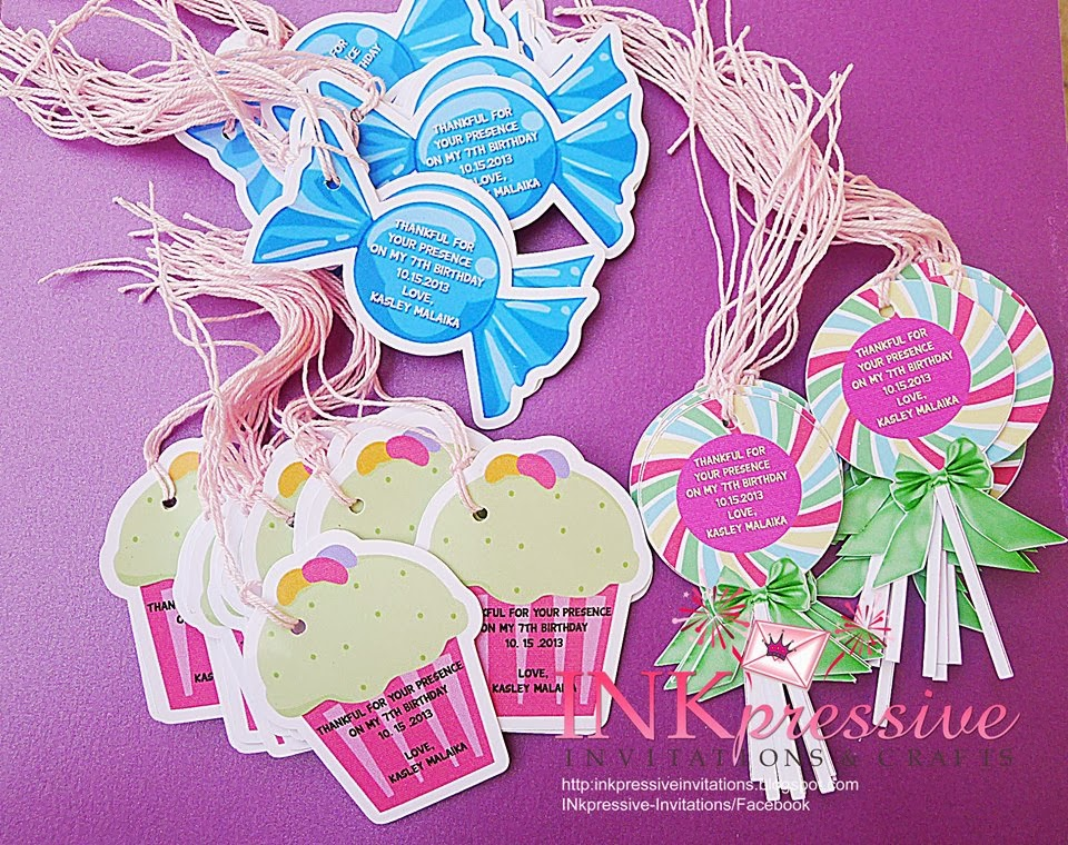 Tags Labels Cupcake Tops Stickers
